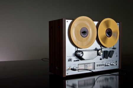 equipment: Vintage Reel-to-Reel stereo tape deck recorder