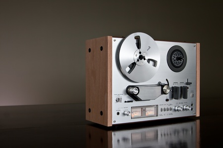 recorder: Vintage Reel-to-Reel stereo tape deck recorder