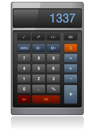 subtract: Classic Calculator, dark color, detailed