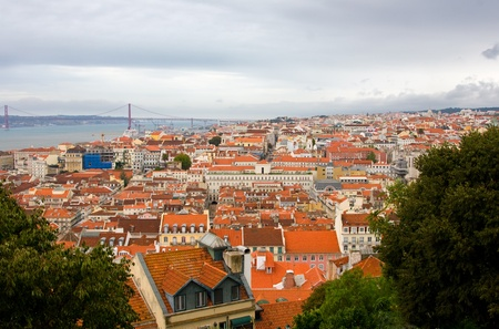 Birdview of Lisbon, Portugal photo