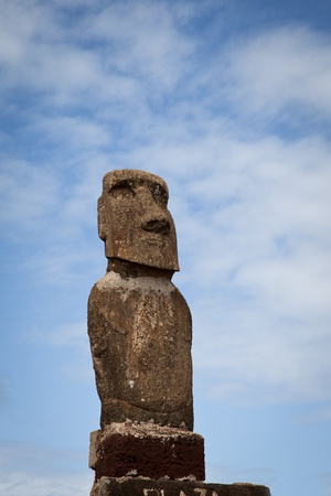 Easter Island statue in the blue sky Stock Photo - 10067206