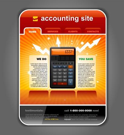 bookkeeping: Contabilidad de las finanzas de Internet del sitio web plantilla de p�gina detallada