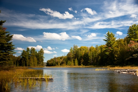 Carpenter Lake helder water vista Stockfoto