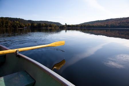 Paddling on the Carpenter lake, Canada Stock Photo - 10758610