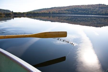 Paddling on the Carpenter lake, Canada Stock Photo - 10758606