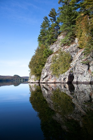 Cliff on the Carpenter lake, Canada Stock Photo - 10758693