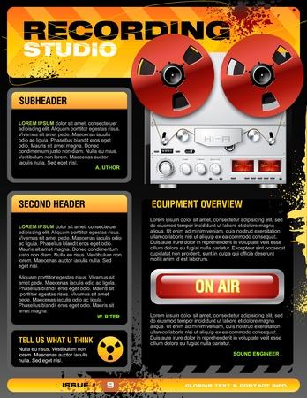 recording studio: Geluidsstudio brochure flyer