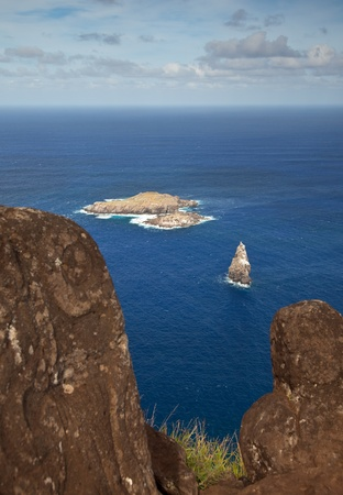 motu: Motu Nui islet near Easter Island, Pacific Ocean Stock Photo