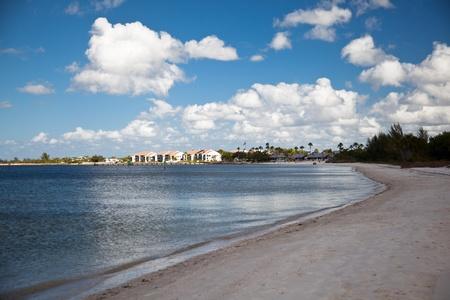 shore line: Florida coast sandy beach Editorial