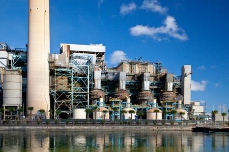 Industrial power plant closeup detail