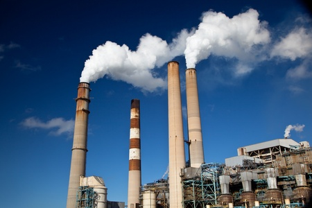 catalytic: Industrial power plant with smokestack