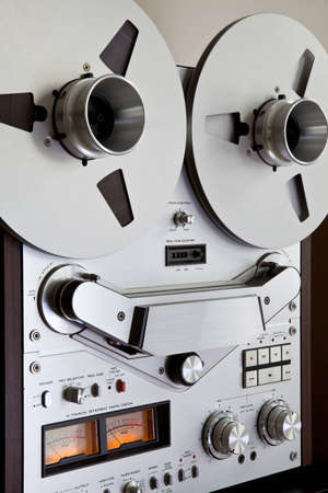 Analog Stereo Open Reel Tape Deck Recorder with large reels photo