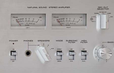 Analog Sound Recording VU Controls