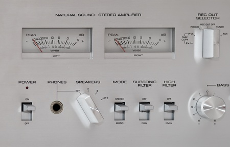 Analog Sound Recording VU Controls  photo