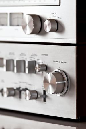Analog Stereo Volume Knob Control Stock Photo