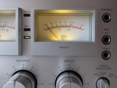 Analog Signal VU Meter closeup