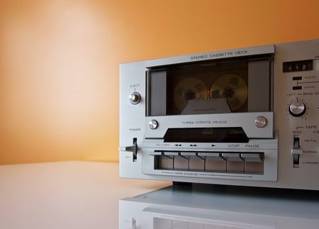 Vintage Stereo Cassette tape deck recorder or player