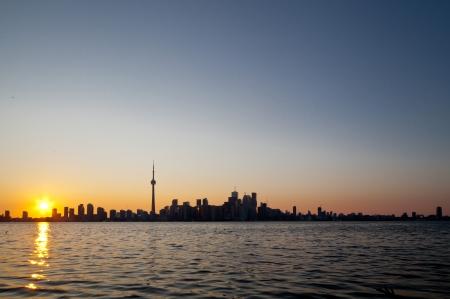 Dramatic sunset, Toronto, Canada photo