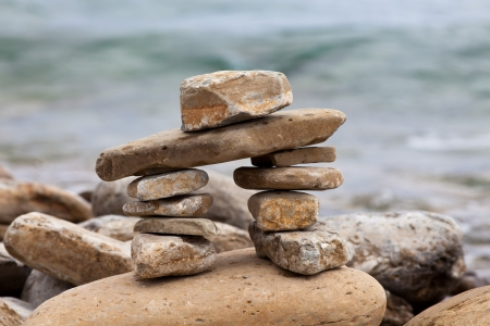 inukshuk: Inuksuk or Inkukshuk on the Huron lakeshore