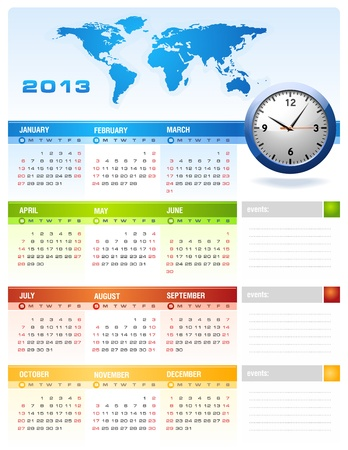 2013 corporate calendar Stock Vector - 14968745