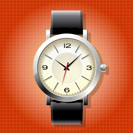 Classic Analog Mens Wrist Watch detailed