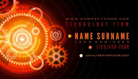 Technology Engineer Business Card Template