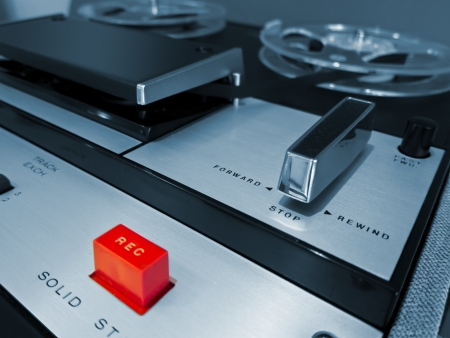 flauta dulce: Analog Stereo Tape Open Deck grabador de carrete