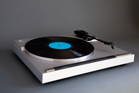 Analog Stereo Turntable Vinyl Record Player photo