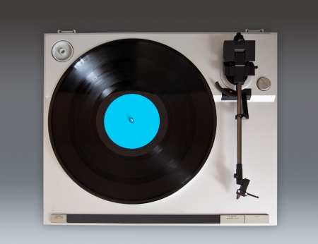 Analog Stereo Turntable Vinyl Record Player Stock Photo - 16664142