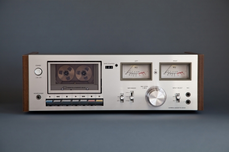 Stereo Cassette Tape Deck Analog Vintage Stock Photo - 16664135