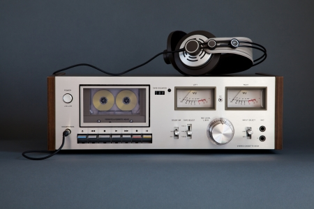 Stereo Cassette Tape Deck Analog Vintage  Stock Photo - 16659937