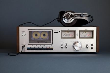 Stereo Cassette Tape Deck Analog Vintage Stock Photo - 16659937