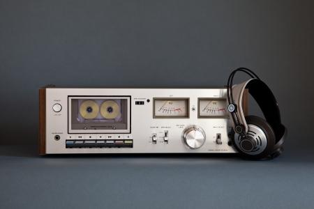 Stereo Cassette Tape Deck Analog Vintage Stock Photo - 16659936