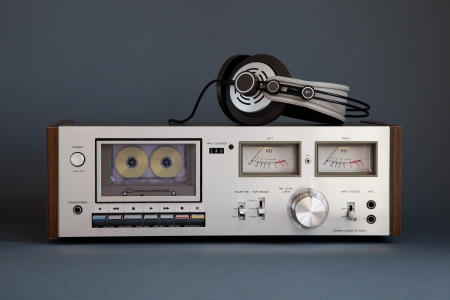 Stereo Cassette Tape Deck Analog Vintage Stock Photo - 16664150