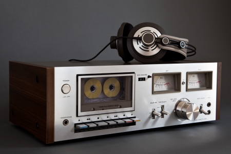Stereo Cassette Tape Deck Analog Vintage  Banco de Imagens
