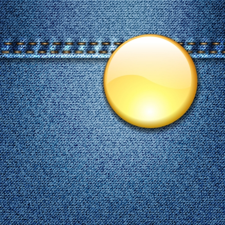 Badge Template on Denim Fabric Texture Jacket Stock Photo - 17584088