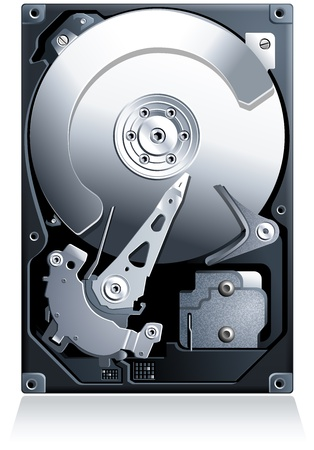 Hard disk drive HDD realistic detailed vector Stock Vector - 17707581