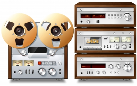 Analog Music Stereo Audio Components Vintage Rack Stock Photo - 18025863