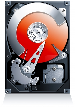 Hard disk drive HDD realistic detailed  Stock Vector - 18116020