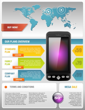 mobile device: Mobile Cell Smart Phone Telecom Provider Flyer