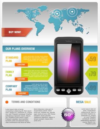 Mobile Cell Smart Phone Telecom Provider Flyer