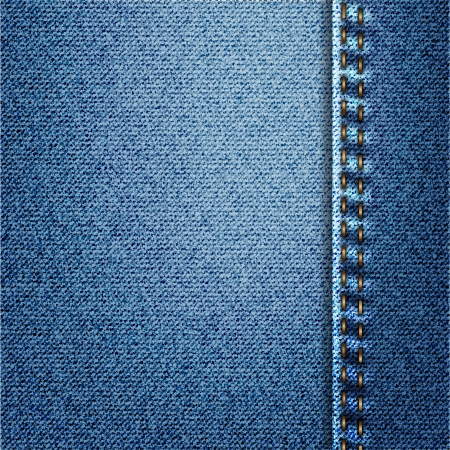 Blue Jeans Denim Fabric Texture With Stitch Stock Photo - 18150104
