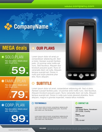Mobile Cell Smart Phone Telecom Provider Flyer
