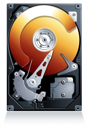hard disk drive: Unit� disco rigido HDD realistico