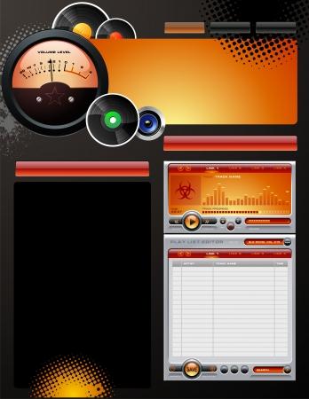 radio button: Casa discografica modello di web design