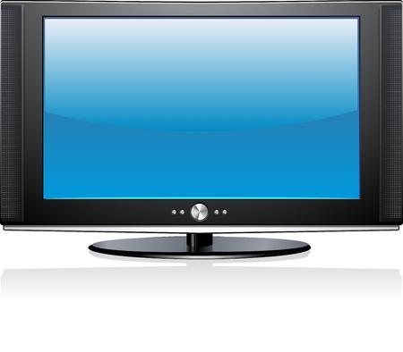 Flat Plasma LED LCD TV-scherm Geïsoleerd Illustratie