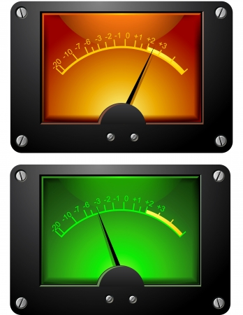 Analog Electronic VU Signal Meter isolated illustration illustration