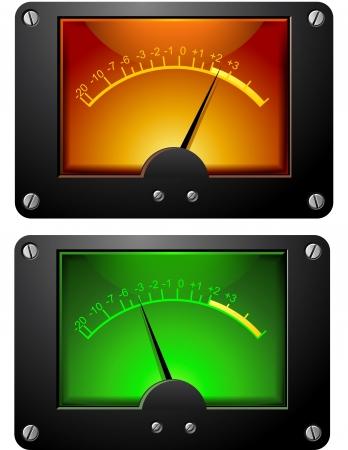 Analog Electronic VU Signal Meter isolated illustration illustration