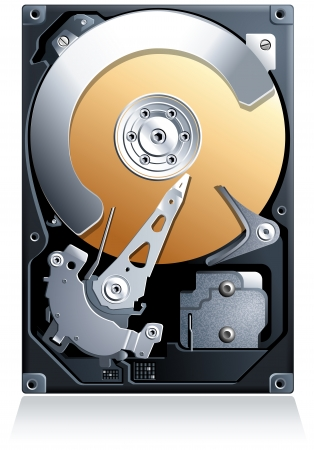 titanium: Hard disk drive HDD realistic detailed vector