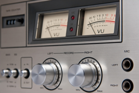 Stereo Cassette Tape Deck Analog controls Vintage
